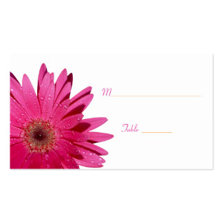 Pink Gerbera Daisy White Place Card Double-Sided Standard Business Cards (Pack Of 100)