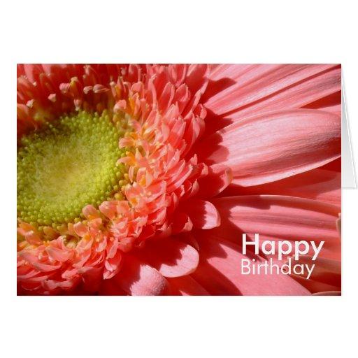 Pink Gerbera - Happy Birthday Card