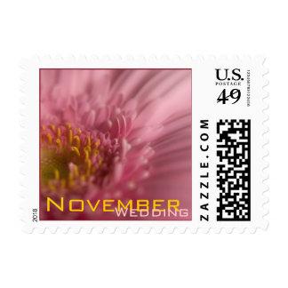 Pink Gerbera • November Wedding Stamp
