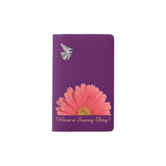 Pink Gerbera Pocket Notebook and Cover