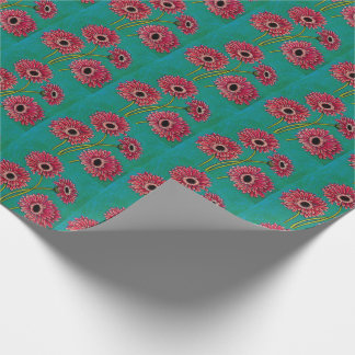 Pink Gerberas Wrapping Paper