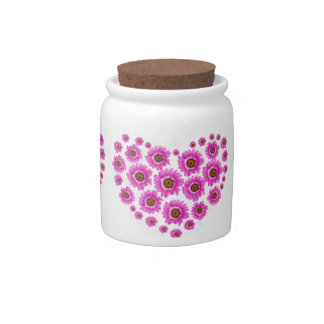 Pink Gerbia Flower Design Candy Dish