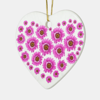 Pink Gerbia Flower Design Ceramic Ornament