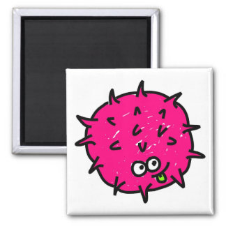 Pink Germ 2 Inch Square Magnet