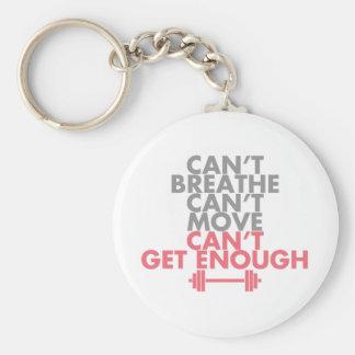 "Pink ""Get Enough"" Basic Round Button Keychain"