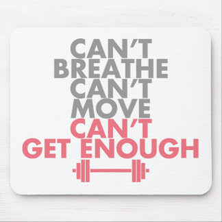 "Pink ""Get Enough"" Mouse Pad"