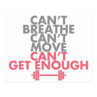 "Pink ""Get Enough"" Postcard"