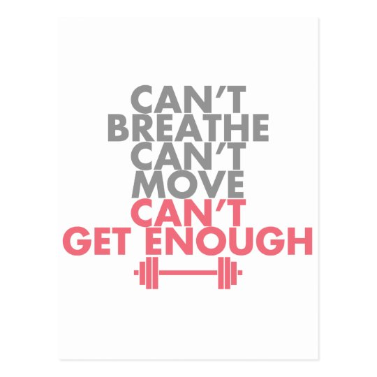 "Pink ""Get Enough"" Postcard"