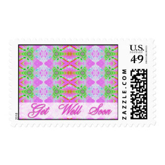 pink get well soon postage