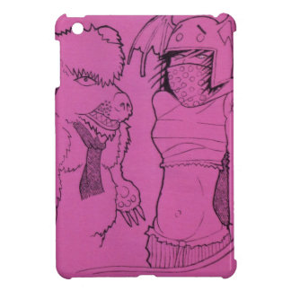 Pink Ghost Girl and Angry Bear iPad Mini Covers