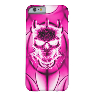 Pink Ghost Skull Barely There iPhone 6 Case