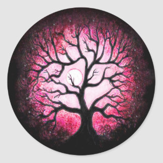 Pink Ghost Tree Stickers
