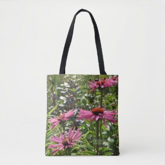 Pink Giant Echinacea Coneflower Tote Bag