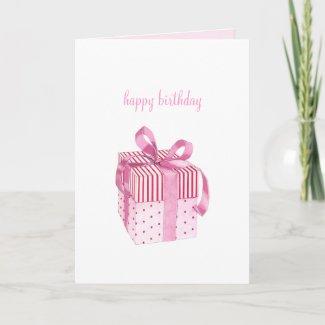 Pink Gift Birhday Card card