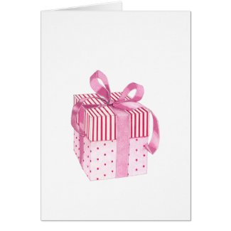 Pink Gift Card card