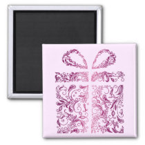 pink gift magnet