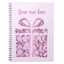 pink gift notebook