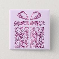 pink gift pinback button