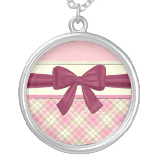Pink Gift Round Pendant Necklace