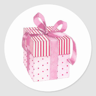 Pink Gift Sticker