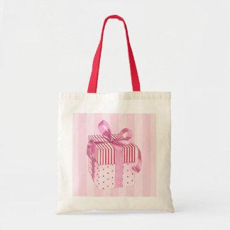 Pink Gift stripes Bag