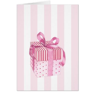 Pink Gift stripes Card card
