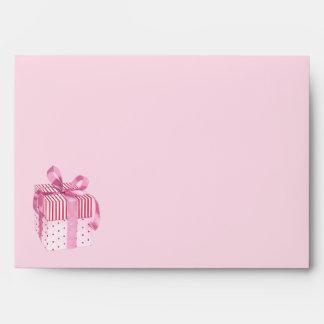 Pink Gift stripes Card Envelope