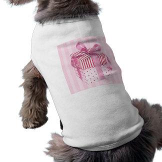 Pink Gift stripes Dog T-shirt