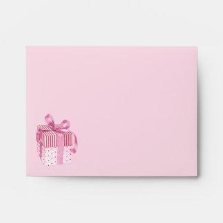 Pink Gift stripes Note Card Envelope