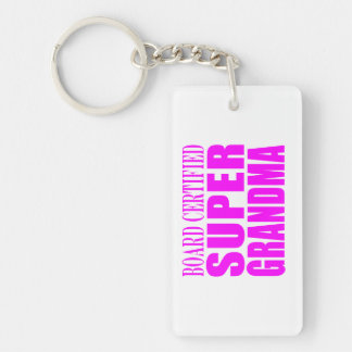 Pink Gifts for Grandmothers : Super Grandma Keychain