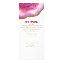 Pink Gilt Agate Wedding programs