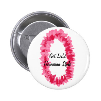 Pink ginger lei button