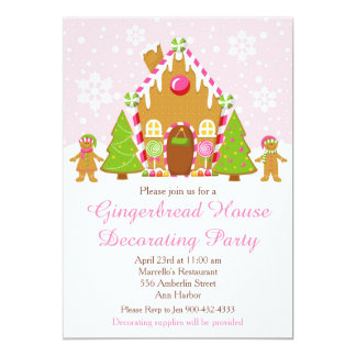 Christmas gingerbread house decorating party gifts on zazzle Gingerbread house decorating party invitations