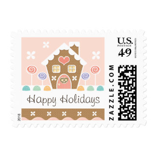 Pink Gingerbread House Stamp