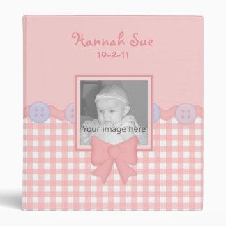 Pink Gingham Baby Girl Binder