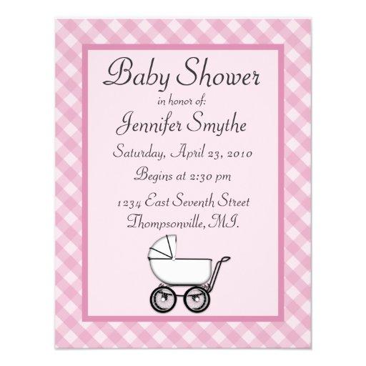 gingham baby shower invitations x 5 5 invitation card