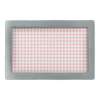 Pink Gingham Belt Buckle