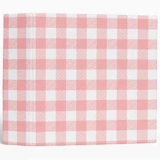 Pink Gingham Binder