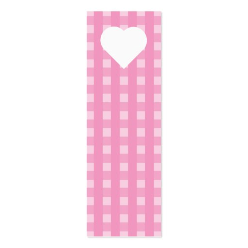 Pink Gingham Business Cards