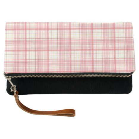 Pink Gingham Clutch