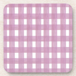 Pink Gingham Drink Coasters