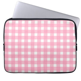 Pink Gingham Electronics Bag