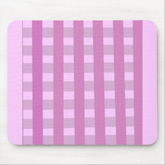Pink Gingham Fabrick look products Mouse Pad