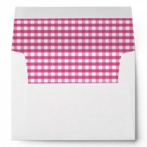 Pink Gingham Farm Animals Cute Cow  5x7 Card A7  Envelope