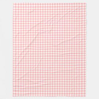 Pink Gingham Fleece Blanket