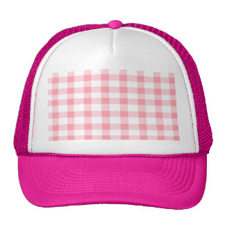 Pink Gingham Trucker Hat