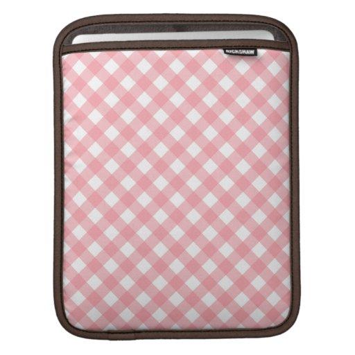 Pink Gingham  iPad Sleeve