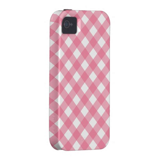 Pink Gingham iPhone 4 Case