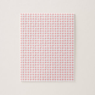 Pink Gingham Jigsaw Puzzle