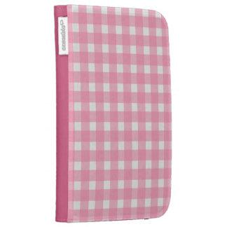 Pink Gingham Kindle Case